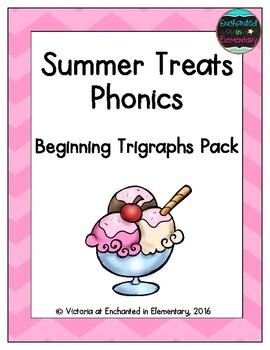 Summer Treats Phonics: Beginning Trigraphs Pack