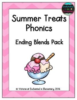 Summer Treats Phonics: Ending Blends Pack