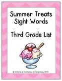 Summer Treats Sight Words! Third Grade List Edition