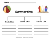 Summer Tree Map and Scrambled Sentences Activity