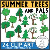 Summer Trees and Pals Clip Art