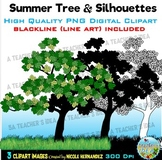 Summer Trees Clip Art for Personal and Commercial Use