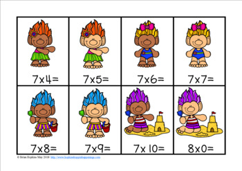 Summer Trolls Multiplication Race