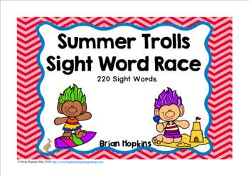 Summer Trolls Sight Word Race