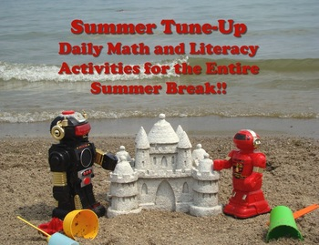 Summer Practice Math & Literacy Packet - 100 Worksheets! No Prep - Print and Go!