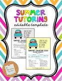 Summer Tutoring Flyer *EDITABLE