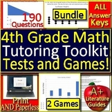 4th Grade ACT Aspire Math Test Prep SELF-GRADING GOOGLE FORMS and Games