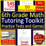 Summer Tutoring Toolkit: 6th Grade Tutoring Resources Math Practice Tests Games