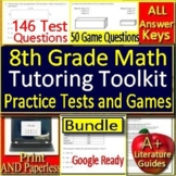 Summer Tutoring Toolkit: 8th Grade Tutoring Resources Math Practice Tests Games