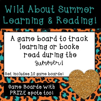Summer Tutoring and Reading Game Boards