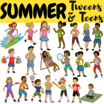 Summer Clipart Tweens Teens Activities