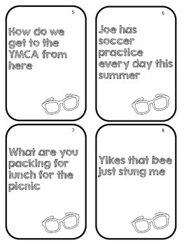 Summer Types of Sentences Sort & Game