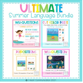 Summer Ultimate Receptive and Expressive Language Pack