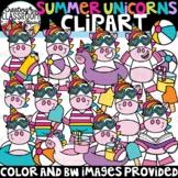Summer Unicorns Clipart {Summer Clipart}