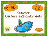 Summer Seasons Worksheets Activities Games Printables and More
