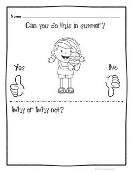 Summer Unit Kindergarten Science Social Studies