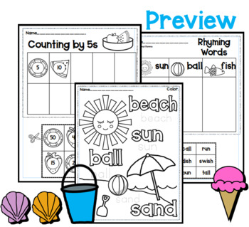 Summer Unit for Pre-K and Kindergarten
