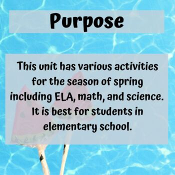 Summer Unit for Special Education