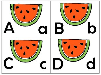 Summer/Uppercase to lowercase match puzzles
