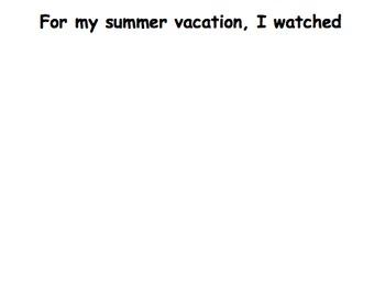 Summer Vacation: An Interactive Book