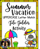 Summer Vacation Bears Uppercase Letter Match File Folder Activity