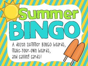 Summer Vacation Bingo Pack