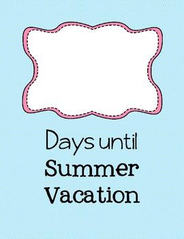 Summer Vacation Countdown