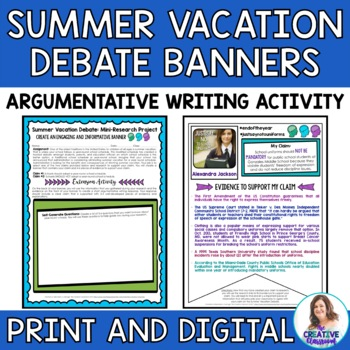 Summer Vacation Debate Banners: Mini-Research Project