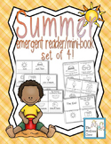 Summer Vacation Emergent Reader Mini-Book Set of 4!