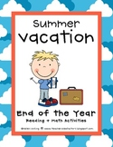 End of the Year Reading + Math Activities