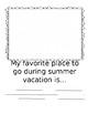Summer Vacation Journal