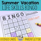 Summer Vacation Life Skills BINGO Game