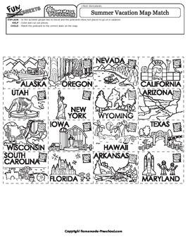 Summer Vacation Map Match