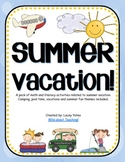 Summer Vacation-Math and Literacy