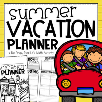 End of Year Math Project & Activity {Plan a Summer Vacation}