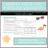 Summer Vacation Planning Project End of Year Webquest