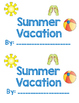Summer Vacation Pop Up Book