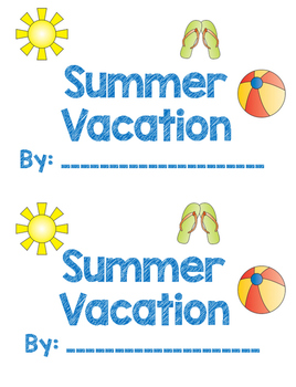 Summer Vacation Pop Up Book