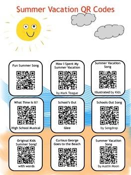 Summer Vacation QR Codes