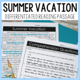 Summer Vacation Reading Passage Google Classroom Distance