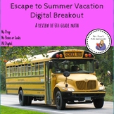 Summer Vacation Digital Breakout, a Review of 6th grade math