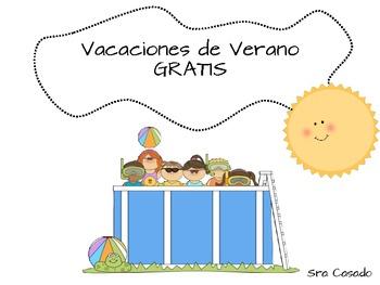 Summer Vacation Spanish (OK For Dual Language) FREEBIE!