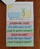 Summer Vacation Spanish Questions Flip Book