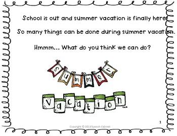 Summer Vacation Storybook