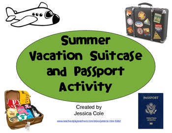Summer Vacation Suitcase and Passport Activity