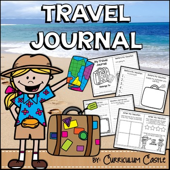 Summer Vacation Travel Journal {NO PREP}!