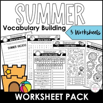 Summer Vacation Word Scramble Worksheet {Freebie} How many words can you  make?