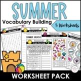 Summer Vacation Word Scramble Worksheet {Freebie} How many