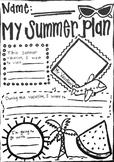 Summer Vacation Worksheet