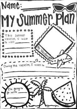 Summer Vacation Worksheets | Teachers Pay Teachers